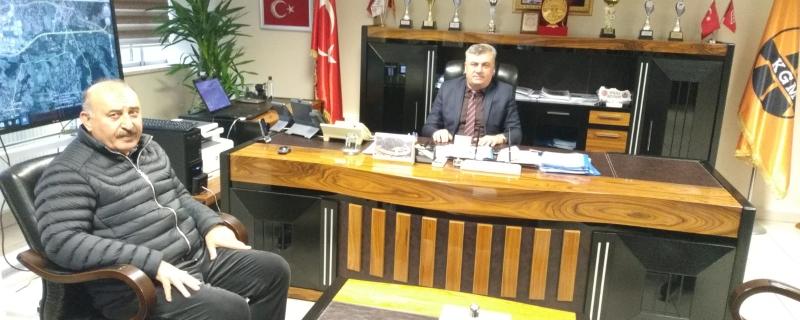 Belediye Başkanı Vedat Öztürk, Karayolları 15. Bölge Müdürlüğü'nü ziyaret etti.