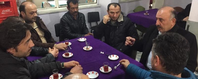 Başkan Öztürk, köy sakinleri ile çay içip sohbet etti