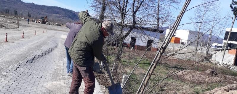 Danacıoğlu Sokakta Kilitli Parke Bakım ve Onarım Çalışmaları Devam Ediyor