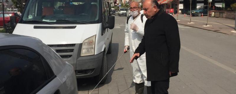 Gökçebey Belediyesi Araçlar İçin Dezenfekte İstasyonu Kurdu