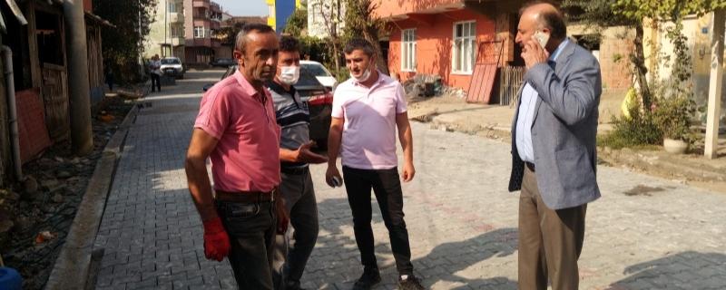 Başkan Tulumlar Sokakta çalışmaları denetledi