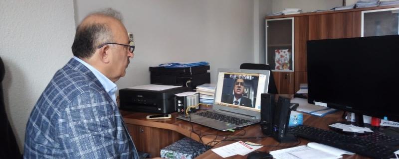 Başkan video konferans yöntemiyle OSB toplantısına katıldı