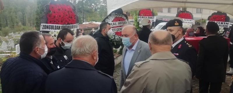 Başkan Şehit Cenazesine katıldı